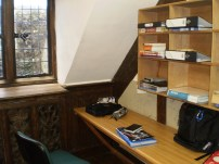 My temporary work-space for the week
