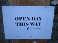 The open day sign