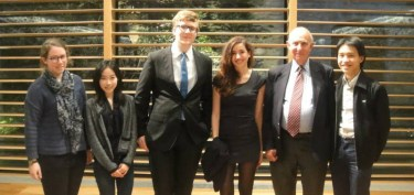 Lord Hannay with some of the OUUNA Committee members (Facebook)