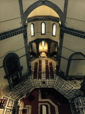 View down into the Duomo, Florence
