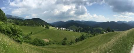 Green hills of Spodnja Sorica, Slovenia
