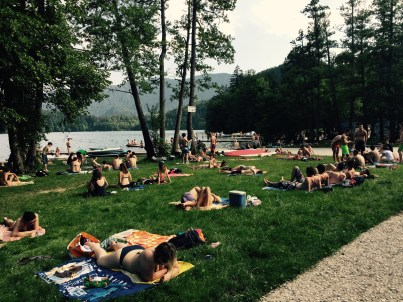 Lakeside beach, Bled