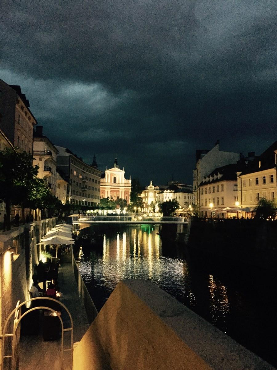Ljubljana evening, storm rolling in