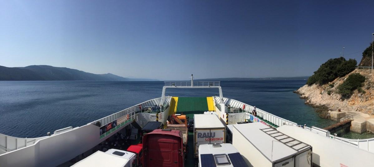 Ferry from Merag to Krk, Croatia