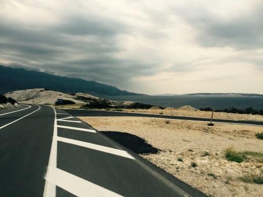 Morning roads of Rab, Croatia
