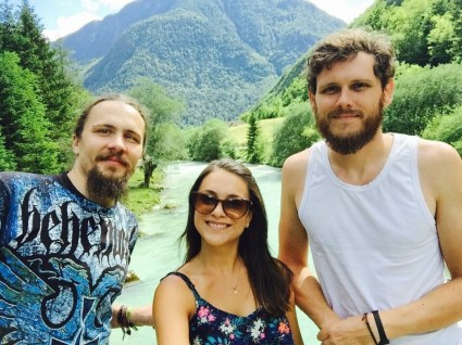 Luka, Anne and Paul by the Soča river