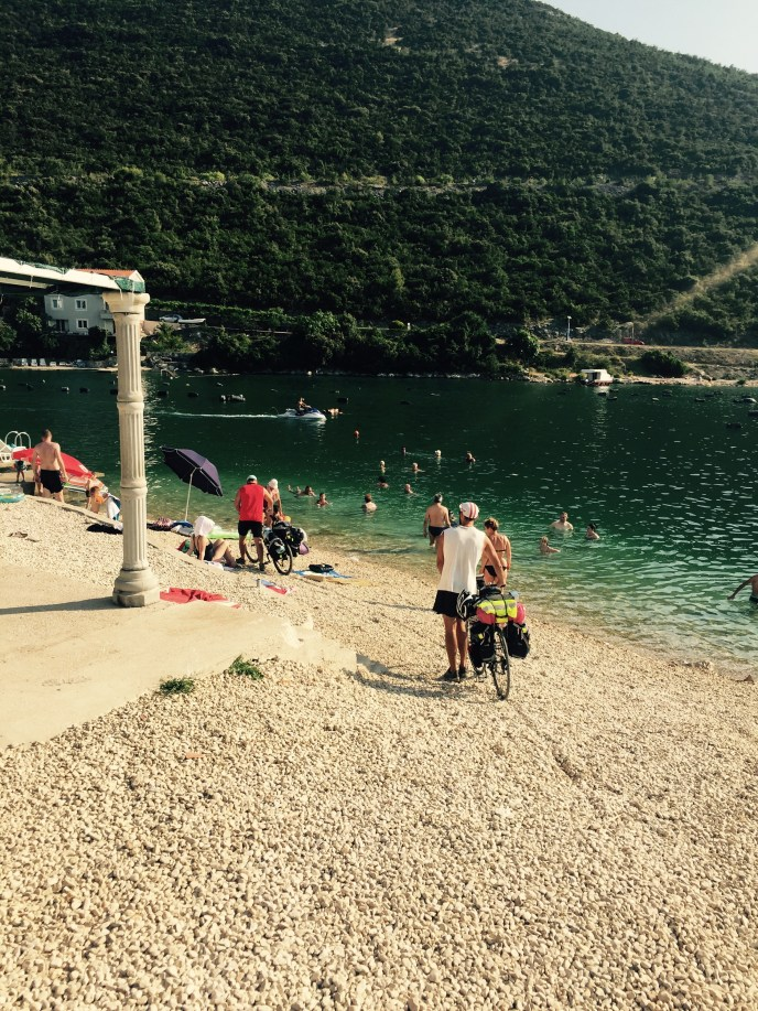 Shortcut went wrong, beach Neum, Bosnia