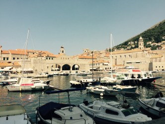 Dubrovnik old town harbor, Croatia
