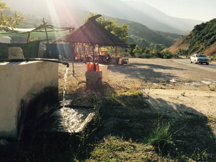 Truck stop, Përmet valley, Albania