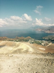 View from summit of Vulcano, Italy