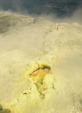 Sulfur vent Vulcano, Italy