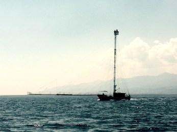 Sword fish hunting boat, Messina strights, Italy