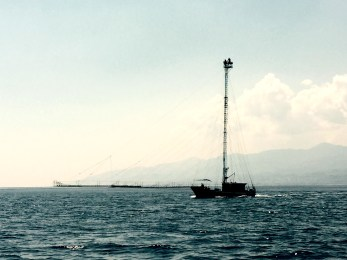 Sword fish hunting boat, Messina strights, Italy
