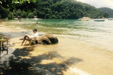 Relaxing on the beach, Ilha Grande, Brazil