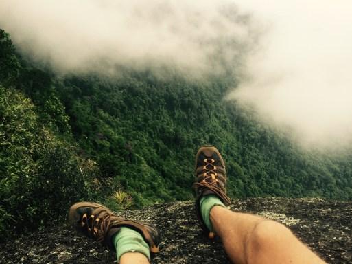 Climbing Pico do Papagaio, Ilha Grande, Brazil