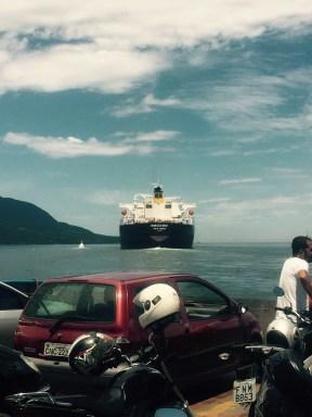 Ilhabela ferry, Brazil