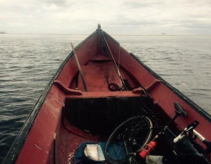 Fishing boat and bike, Ararapira, Brazil