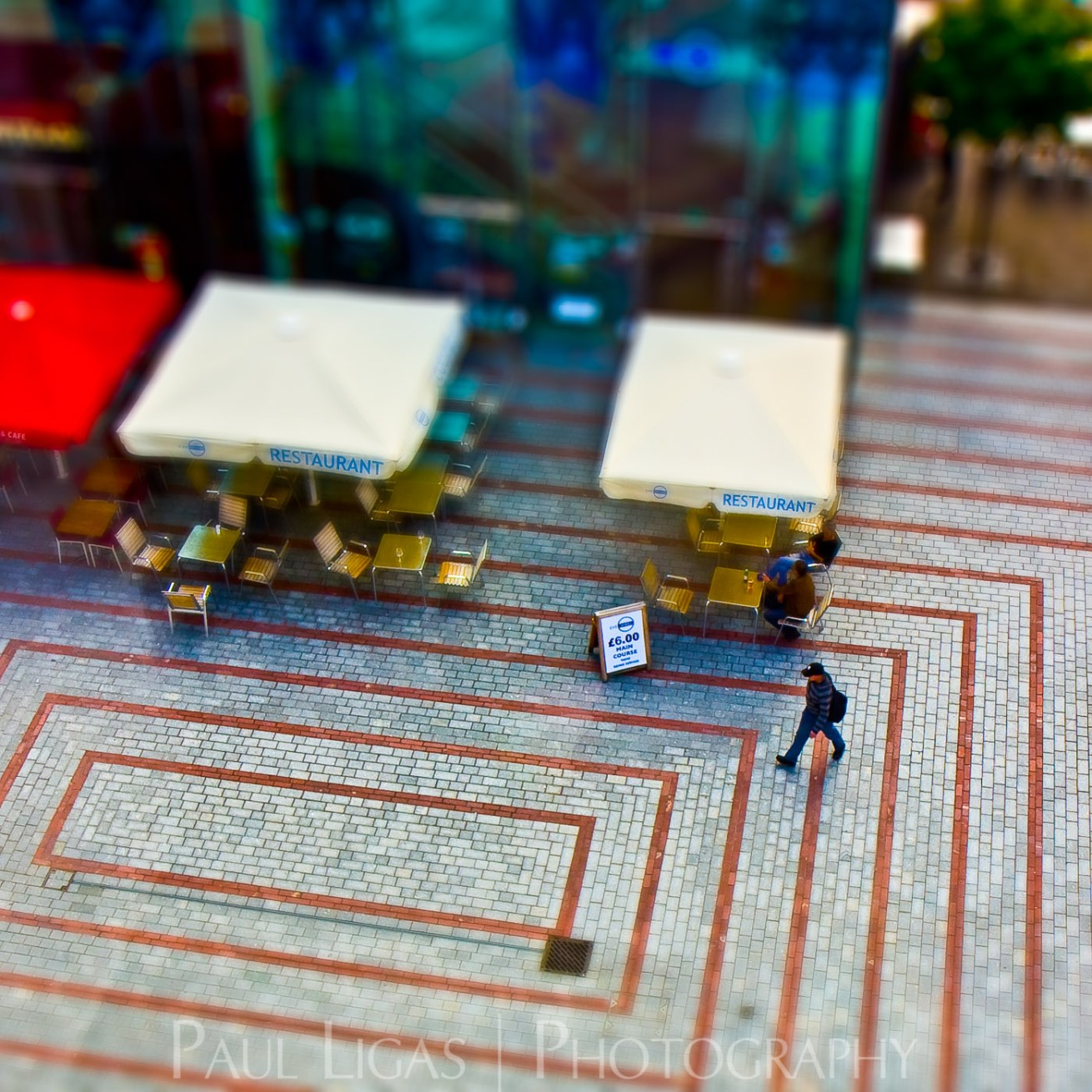 Exeter From Above, tilt shift photography cityscape street photographer herefordshire 4967