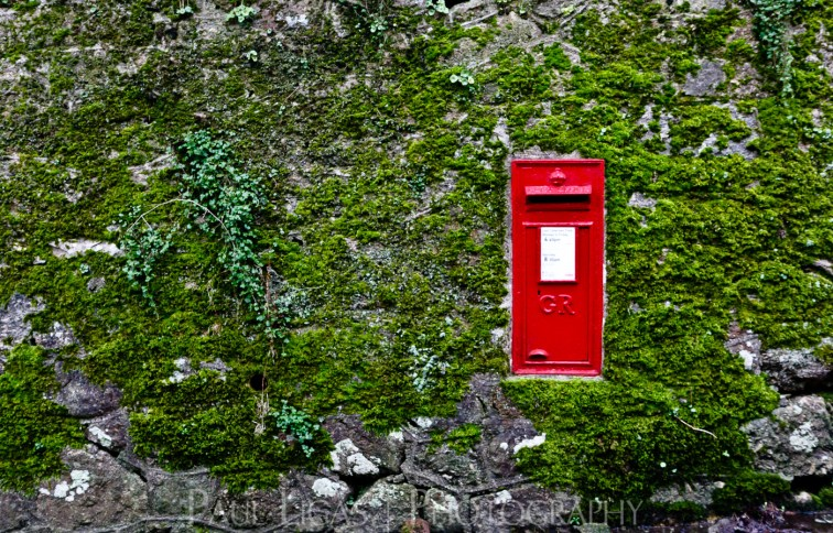 Post box in Devon, fine art urban photography