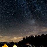 Astrophotographer landscape, Hay-on-Wye, Powys, Wales, milky way galaxy camping 1364