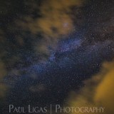 Astrophotographer landscape, Hay-on-Wye, Powys, Wales, milky way galaxy through clouds 6671