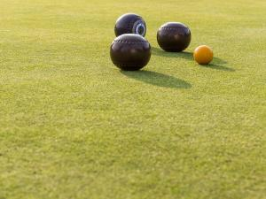 Paul Ligas Photography print Lawn Bowling Balls on the Green