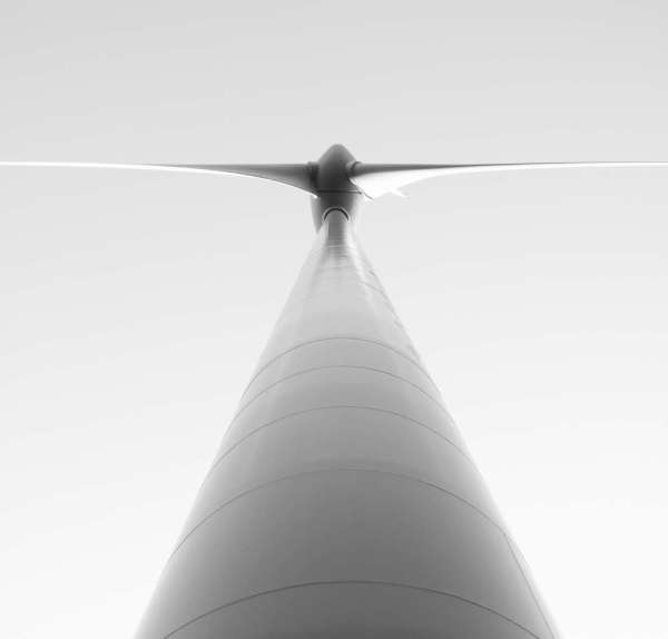 Paul Ligas Photography Print Wind Turbine in Black and White