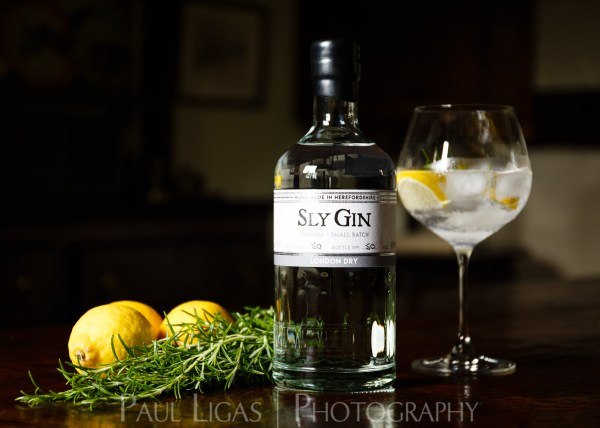 Haven Distillery Sly Gin Hereford product lifestyle photography photographer