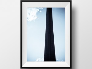 paul ligas photography print cn tower silhouette against blue sky mockup