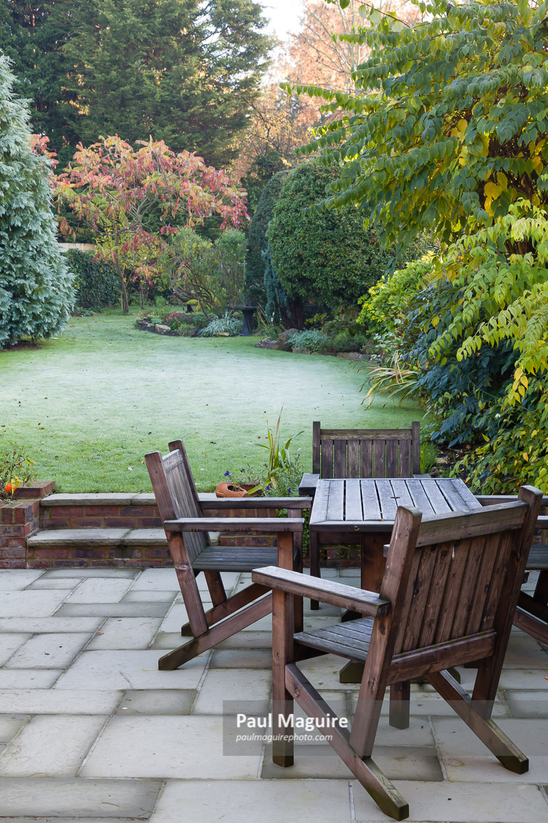 buy a photo of back yard patio and garden paul maguire