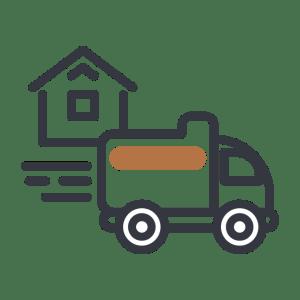 Moving van icon