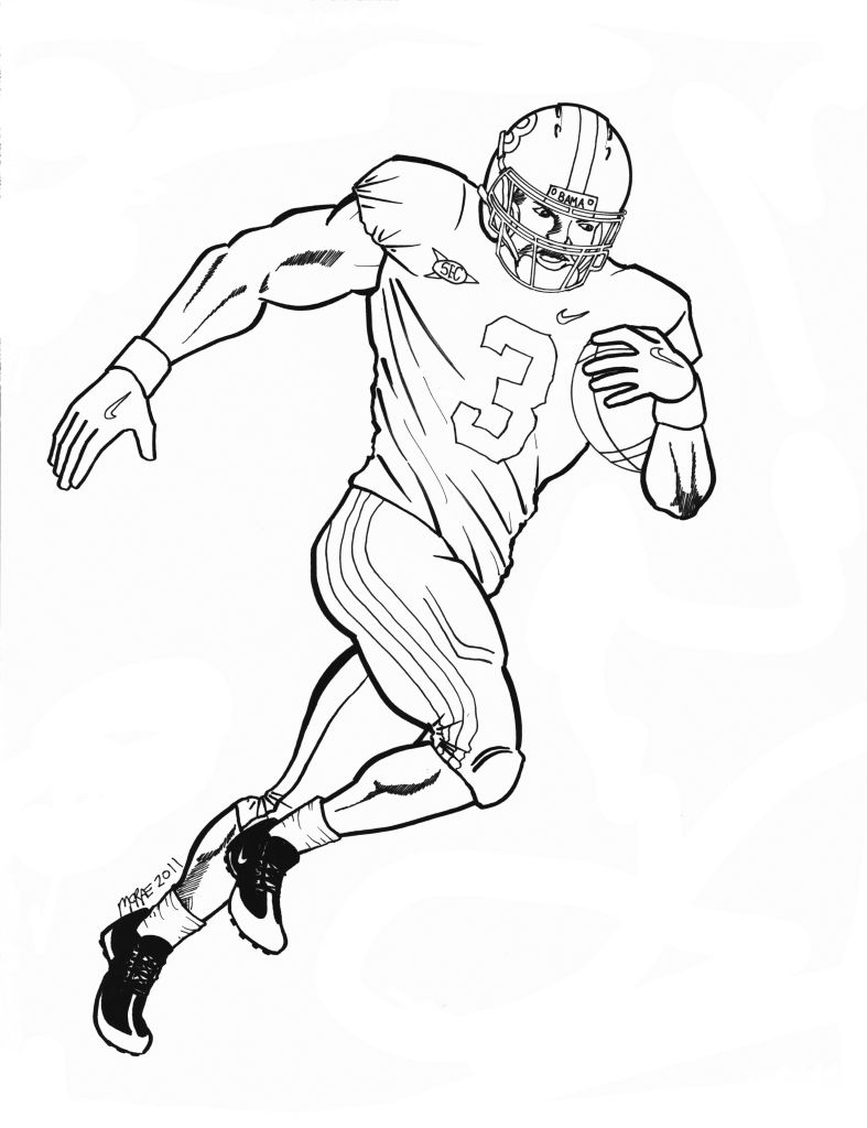 21+ Awesome Image of Football Coloring Pages | Football coloring ... | 1024x787