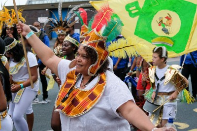 Preston, UK. 25th June 2017. Preston Carnival is the largest and longest running cultural celebration outside of Preston Guild. The event was cancelled last year due to funding problems but a scaled down parade thrilled onlookers and brought colour to the streets.