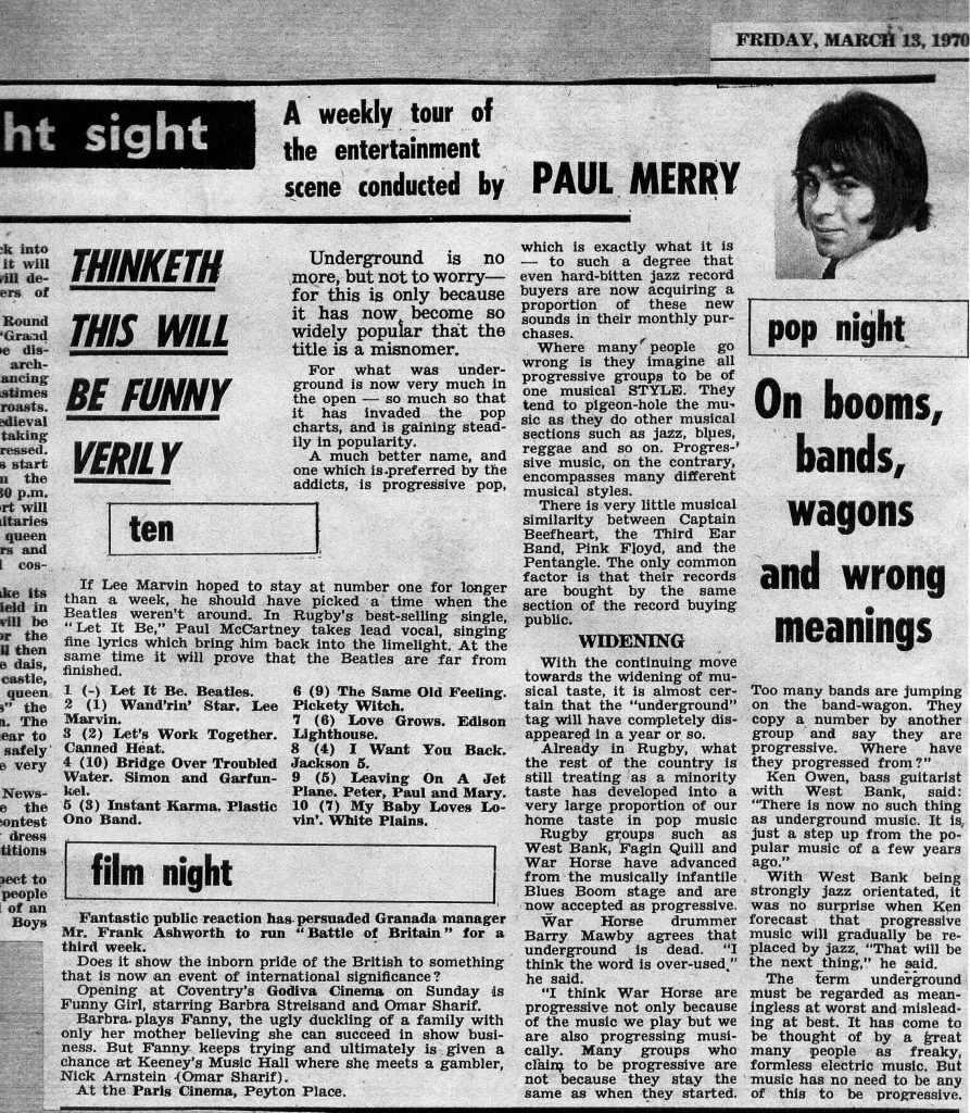Paul's 1973 column