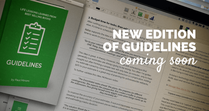 new edition of guidelines coming soon