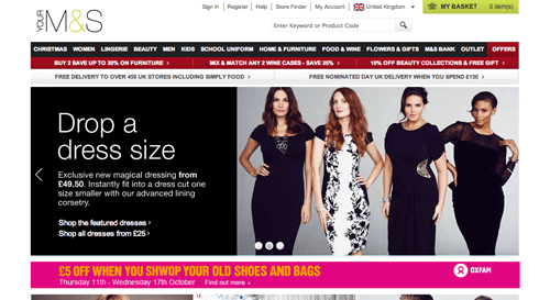 M&S Ecommerce Website
