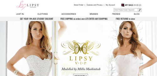 Lipsy Ecommerce Website