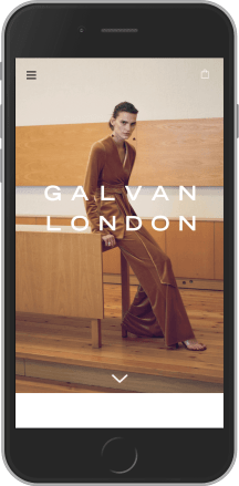 Galvan London on mobile
