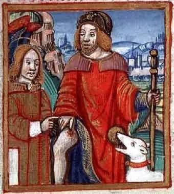 16 August: Saint Roch (patron saint of the feet)