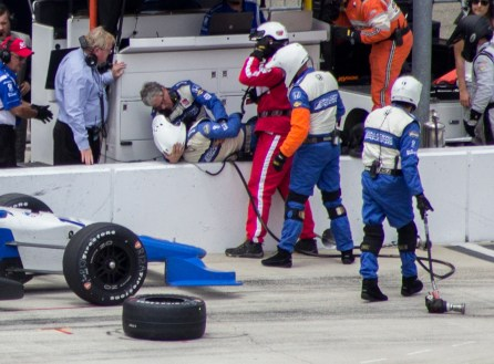 Injured Pit Crew Member