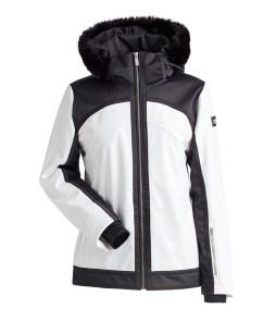 Nils Camilla Faux Fur Women's Jacket White/Black