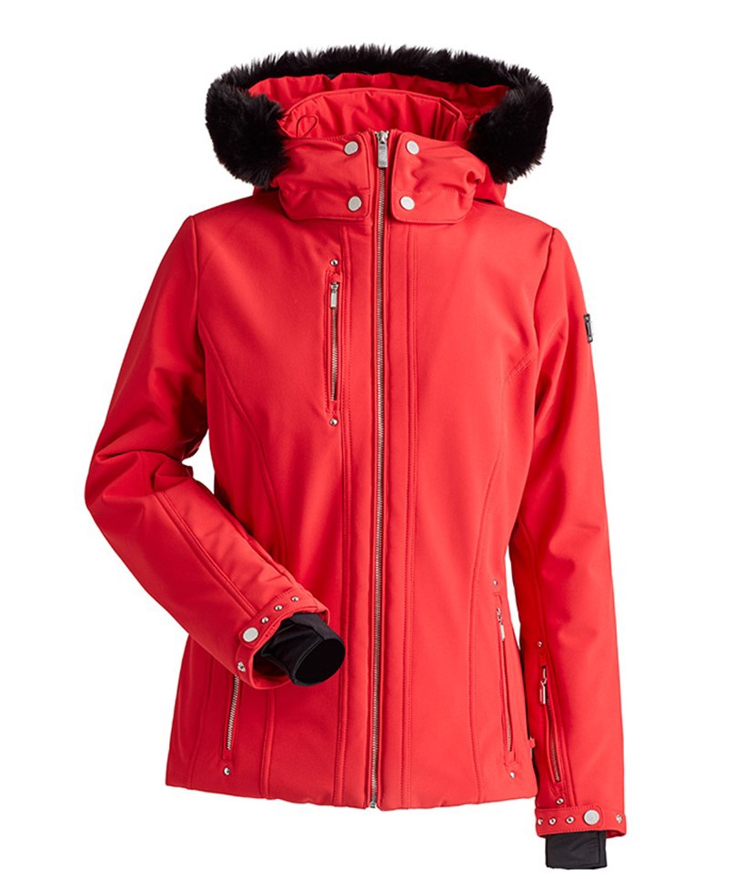 Nils Cossette Faux Fur Women's Jacket Red