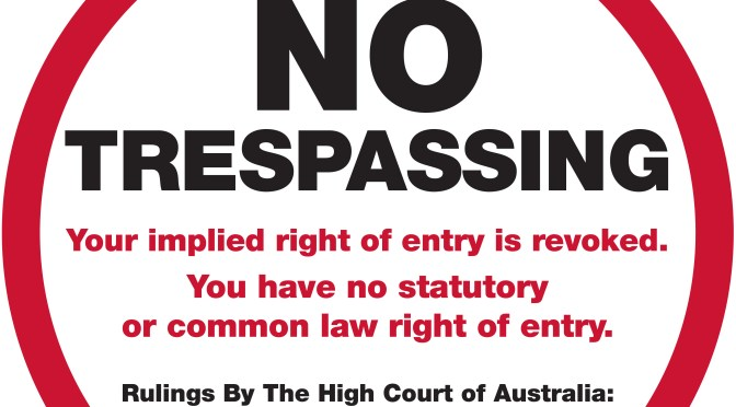 Trespass Proclamation & Signs