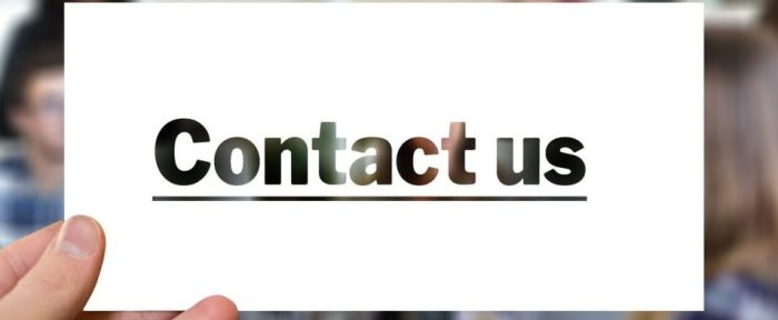 Contact us, Contact page