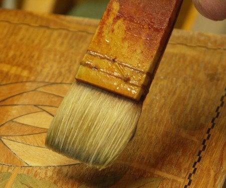 Squirrel Fine Hair Brush Applying Shellax Violin Varnishes Watercolours