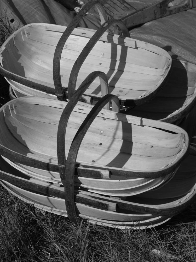 Trugs for garden harvesting and tool toting. Imagine that he makes his living from making trugs. Love it. Keep it small, keep it simple and keep your values.