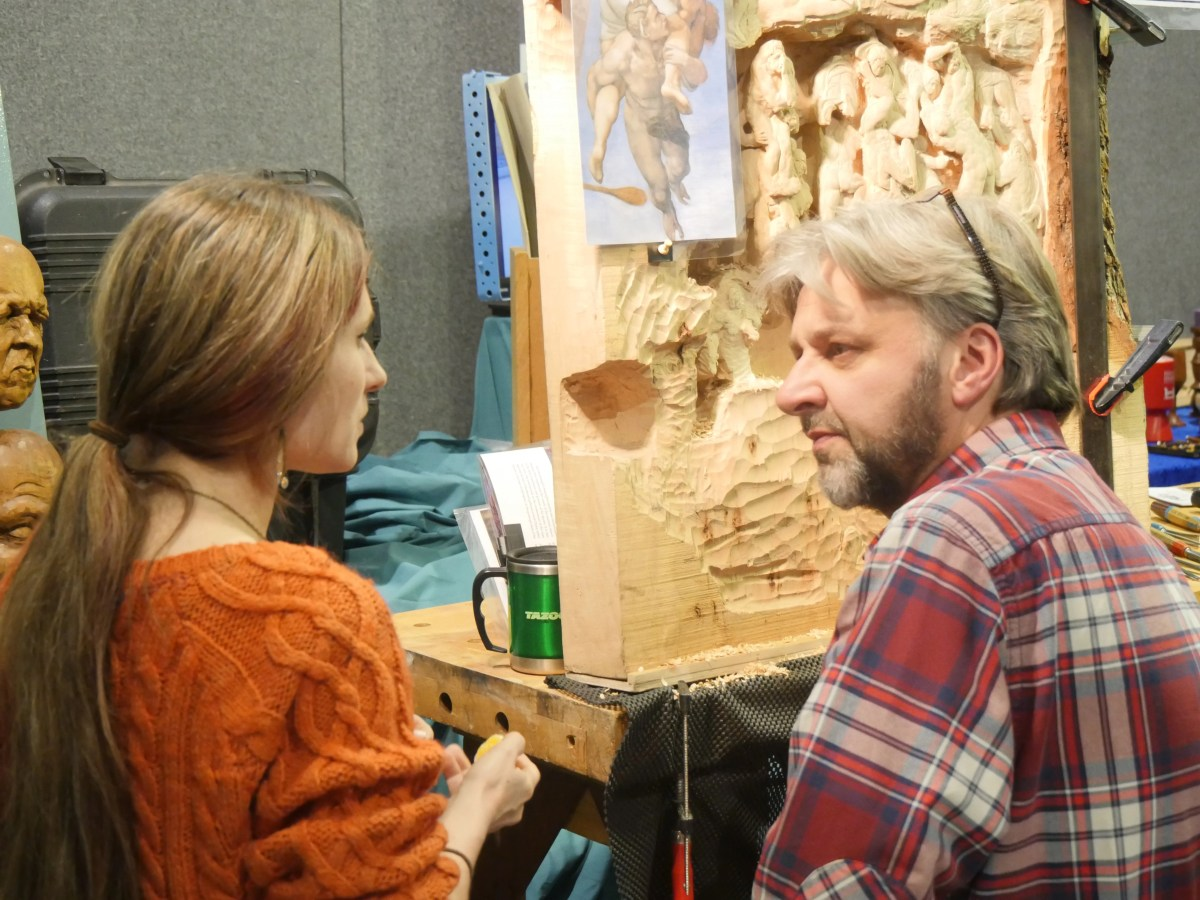 Two of my favourite people carving remarkable things.