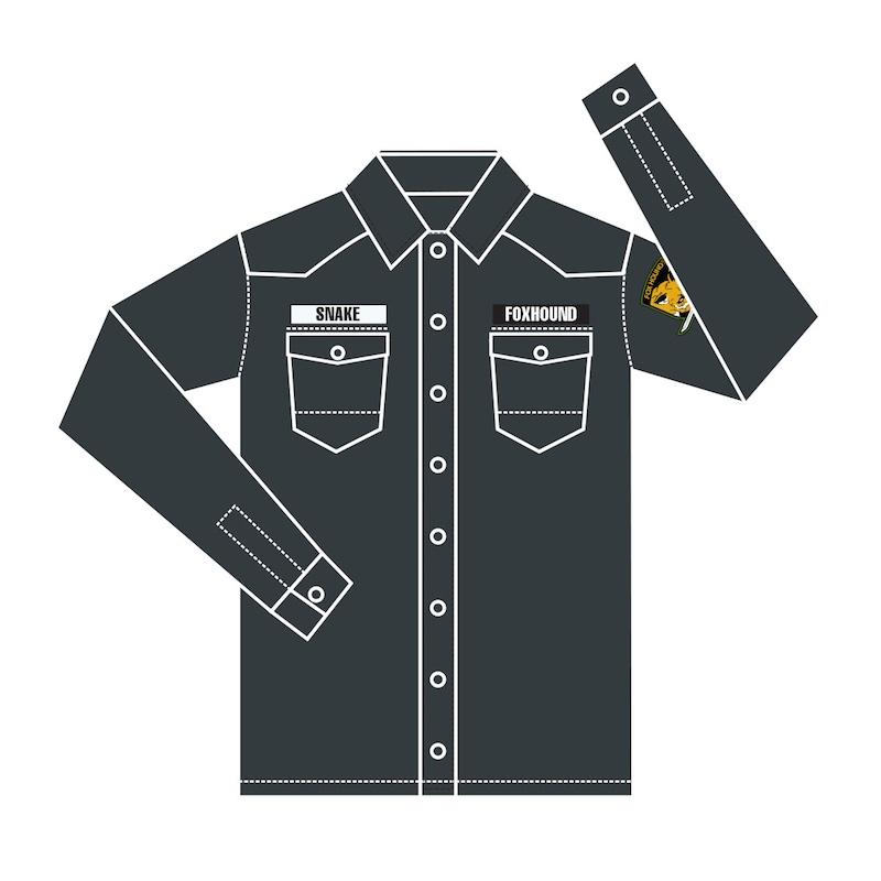 Insert Coin Metal Gear Solid Snake button down shirt
