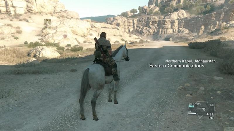 Metal Gear Solid V The Phantom Pain horse