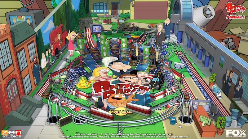 American Dad screenshot Balls Of Glory Zen Pinball 2 Pinball FX Archer Family Guy Bobs Burgers American Dad